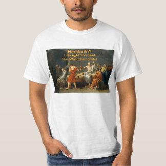 ¡Hemlock?! Camiseta de la manzanilla Polera