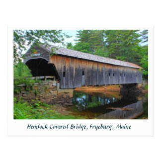 Hemlock Covered Bridge Fryeburg Maine Postcard