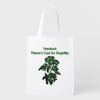 Hemlock: Cure For Stupidity Grocery Bag