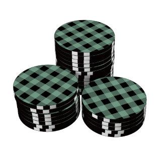 Hemlock de la tela escocesa 1 fichas de póquer