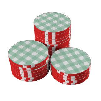 Hemlock de la tela escocesa 1 juego de fichas de póquer