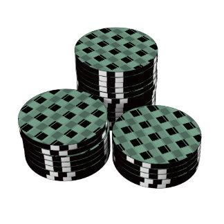 Hemlock de la tela escocesa 3 juego de fichas de póquer