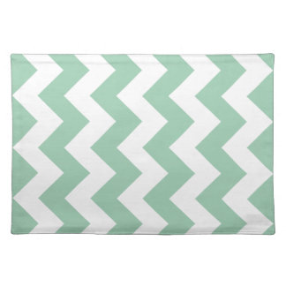 Hemlock Green Chevron Zigzag Cloth Placemat