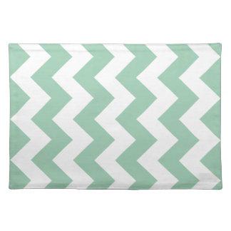 Hemlock Green Chevron Zigzag Cloth Place Mat