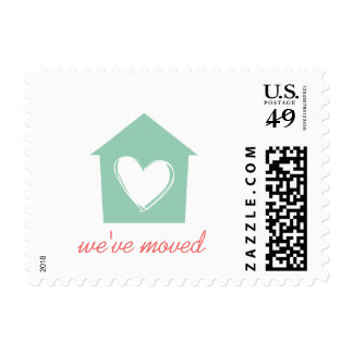 Hemlock Green House with Love We've Moved Postage