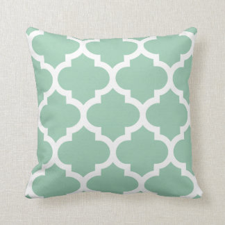 Hemlock Green Quatrefoil Pillow