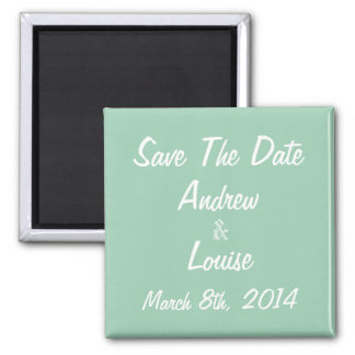 Hemlock Green & White Save the Date Magnet