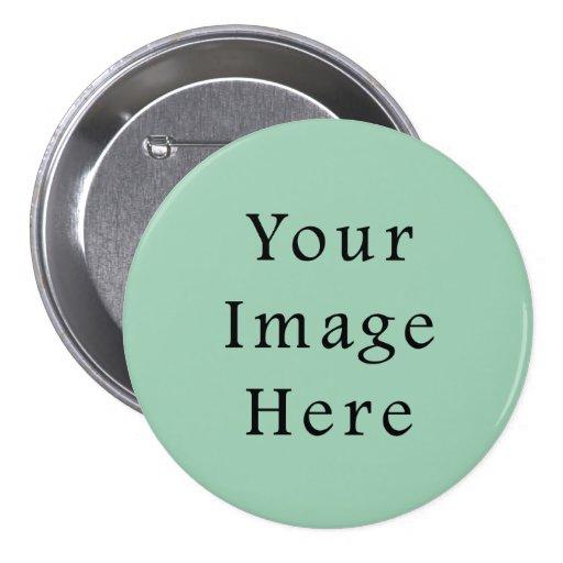 Hemlock Light Green Color Trend Blank Template Pinback Buttons