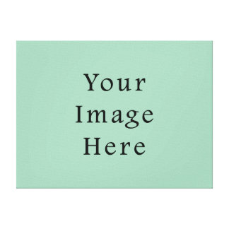 Hemlock Light Green Color Trend Blank Template Canvas Print