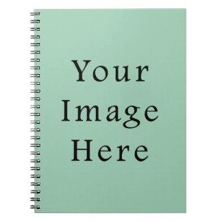 Hemlock Light Green Color Trend Blank Template Notebook