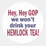 Hemlock Tea Round Sticker
