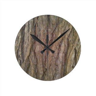 Hemlock Tree Bark Wall Clock
