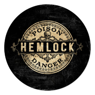 Hemlock Vintage Style Poison Label Card