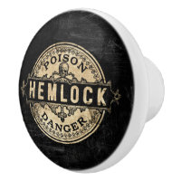 Hemlock Vintage Style Poison Label Ceramic Knob