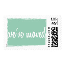 Hemlock We've Moved New Home Postage Stamps
