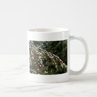 Hemlock with Lowland Snow - Olympia WA Coffee Mug