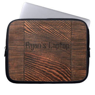 Hemlock Wood Grain Laptop Sleeve *personalize*