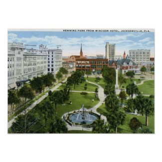 Hemming Park, Jacksonville FL 1920 Vintage print