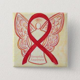 Hemophilia Angel Red Awareness Ribbon Art Pin