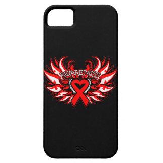 Hemophilia Awareness Heart Wings iPhone 5 Case