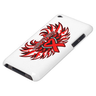 Hemophilia Awareness Heart Wings iPod Touch Covers