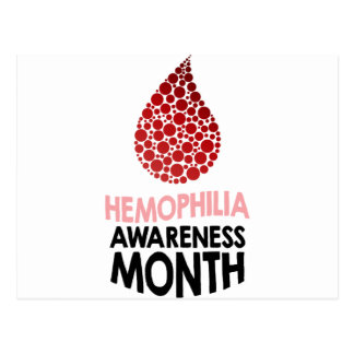 Hemophilia Awareness Month - Appreciation Day Postcard