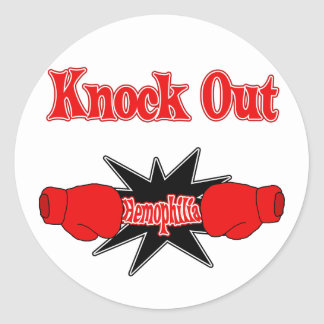 Hemophilia Classic Round Sticker