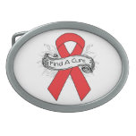 Hemophilia Find A Cure Ribbon Oval Belt Buckles