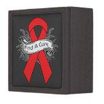 Hemophilia Find A Cure Ribbon Premium Keepsake Boxes