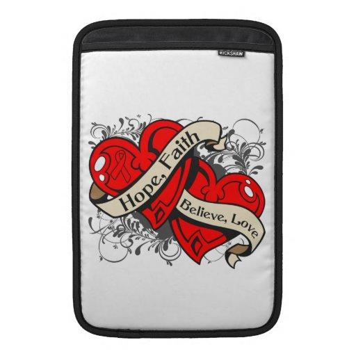 Hemophilia Hope Faith Dual Hearts Sleeve For MacBook Air