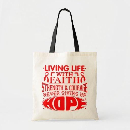 Hemophilia Living Life with Faith Canvas Bags