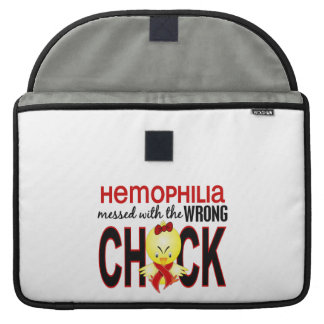 Hemophilia Messed With Wrong Chick MacBook Pro Sleeve