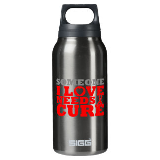 Hemophilia Someone I Love Needs A Cure 10 Oz Insulated SIGG Thermos Water Bottle