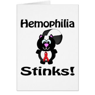 Hemophilia Stinks Skunk Awareness Design Card