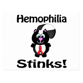 Hemophilia Stinks Skunk Awareness Design Postcard