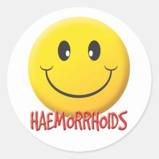 Hemorroides Pegatina Redonda