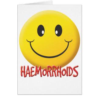 Hemorroides Tarjeta De Felicitación