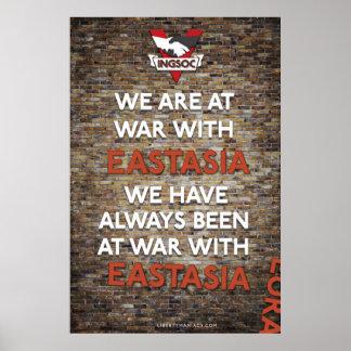 Hemos estado siempre en la guerra con el Este de Poster