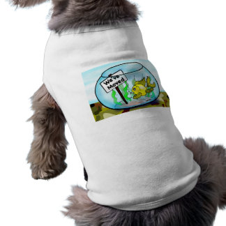 Hemos movido el dibujo animado militar del acuario camisetas de perrito
