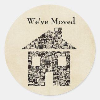 Hemos movido el pegatina/la etiqueta de la casa
