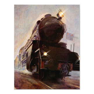 """Hemos movido el tren Movin de la tarde brumosa de Invitación 4.25"""" X 5.5"""""""