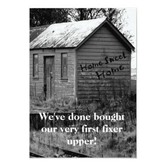 Hemos movido estreno de una casa de la cabaña del invitación 12,7 x 17,8 cm