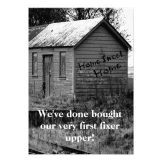 Hemos movido estreno de una casa de la cabaña del comunicados