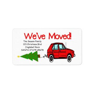 Hemos movido la etiqueta del navidad del coche y etiquetas de dirección
