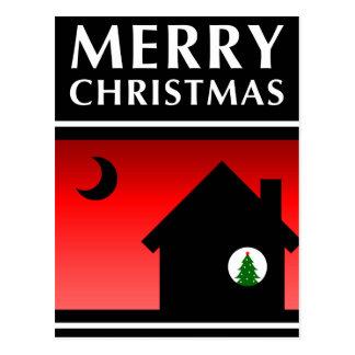 hemos movido la invitación de las Felices Navidad Tarjetas Postales