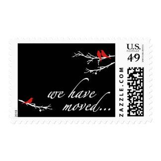 hemos movido la invitación sellos postales