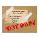 Hemos movido la nueva caja de cartón casera (el tarjeta postal