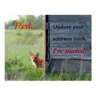 Hemos movido la postal (el zorro rojo en granero)