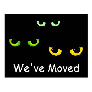 Hemos movido los ojos de tres gatos postal