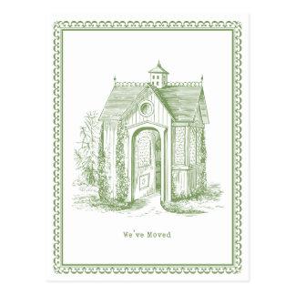Hemos movido verde de la postal de la casa del